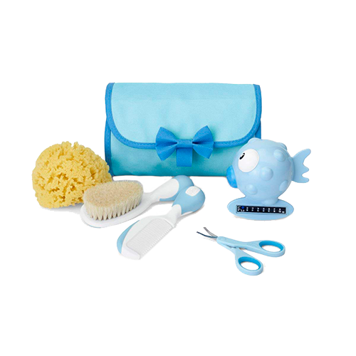 Chicco Mini Beauty - Set de higiene del bebé 5 en 1, color azul