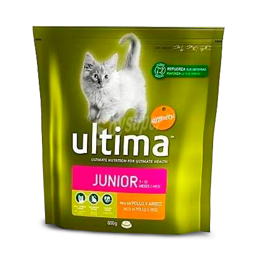 Ultima Alimento para gatos Junior Bolsa 800 gr