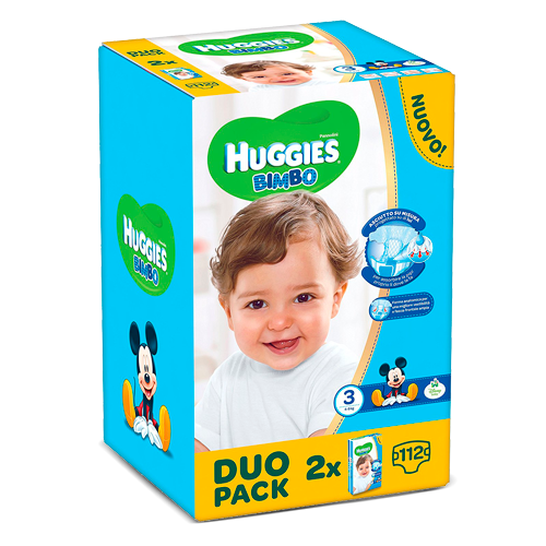 Huggies Bimbo Lot de 2 x 56 couches
