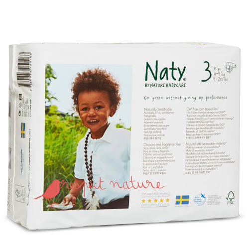Naty by Nature Babycare Couches Écologiques Jetables