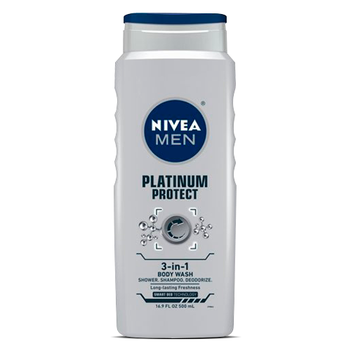 Nivea For Men Platinum Protect Deodorizing Body Wash, Ocean Burst