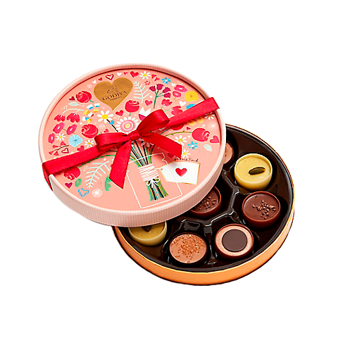 Cups of Love Chocolate Gift Box, 9 pc.