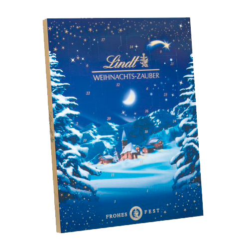 Calendário do advento de magia do Natal Lindt
