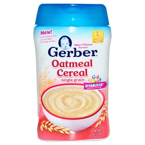 Gerber, Oatmeal Cereal, Single Grain