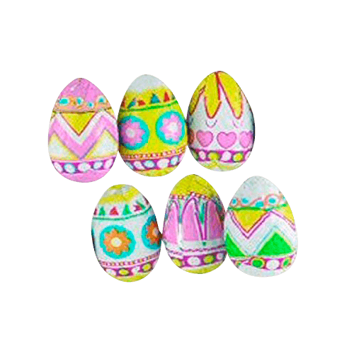 Pastel Pattern Small Hollow Chocolate Easter Eggs