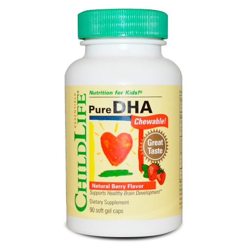 ChildLife, Pure DHA Chewable!, Natural Berry Flavor