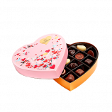 Valentine's Day Paper Heart Chocolate Gift Box, 14 pc.