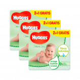 Toalhitas Huggies Natural Care 2+1 504 uds