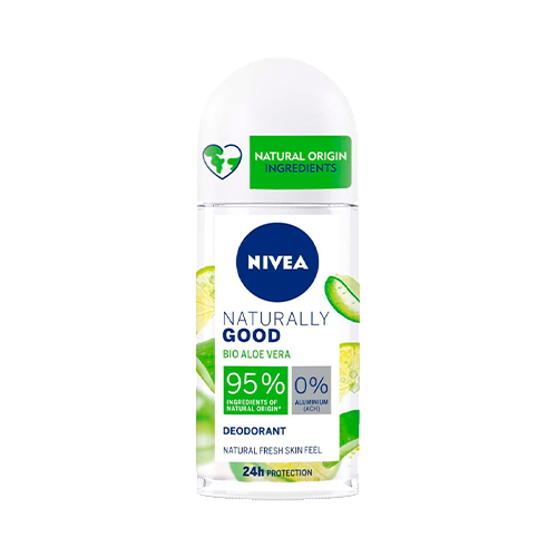 NIVEA Naturally Good Desodorante con Aloe Vera Bio Roll on (50 ml),