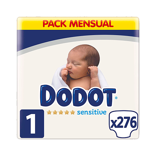 Dodot Sensitive pañales talla 1, 2-5 kg