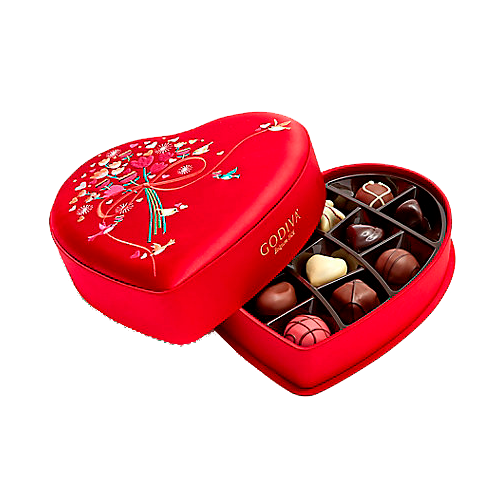 Valentine's Day Fabric Heart Chocolate Gift Box, 14 pc.