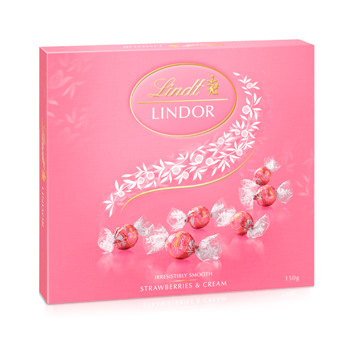 LINDOR Strawberries & Cream Box 150g